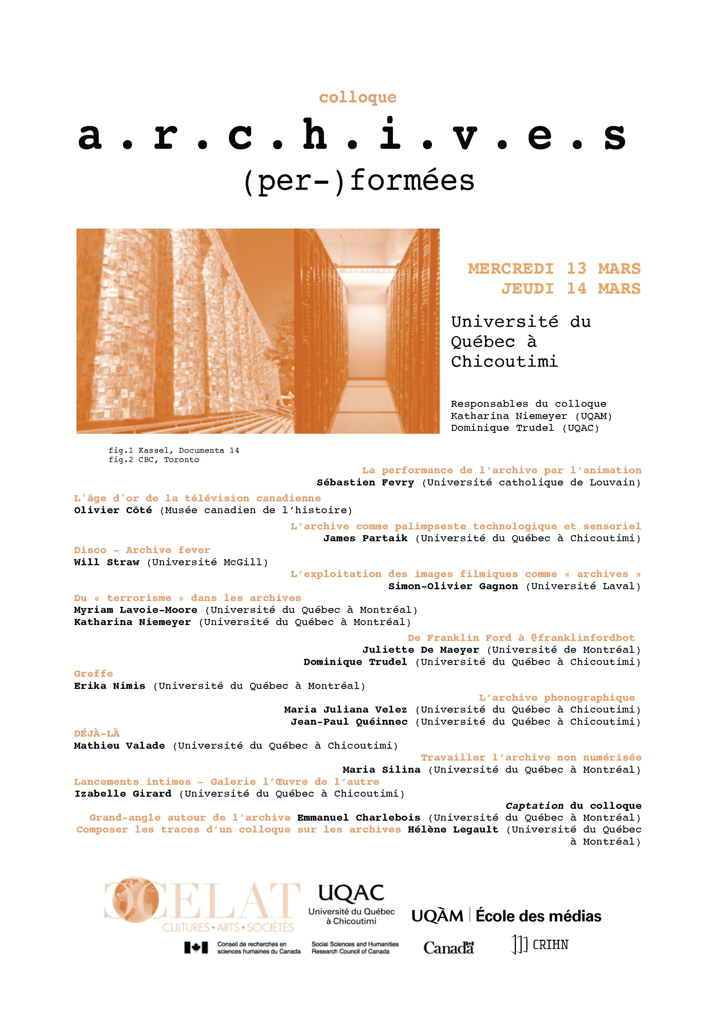 affiche colloque archives